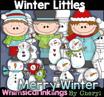 Winter Littles Clipart Collection