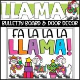 Winter Llama Bulletin Board or Door Decoration