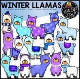Winter Llamas Clip Art Set {Educlips}