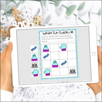 Logic Puzzles Gr. 1-3: Beginning Logic Puzzles With A Winter Theme