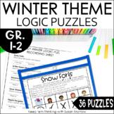 Logic Puzzles Winter Theme Digital and Print