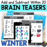 Winter Logic Puzzles   Addition and Subtraction within 20