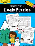 Winter Logic Puzzles -  Double Matrix