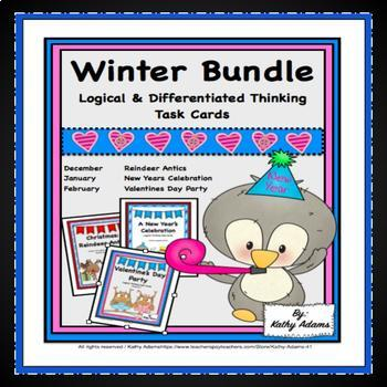 Winter Logical Thinking Task Cards