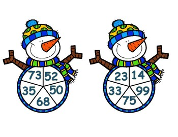 Winter Long Division Spinner Game