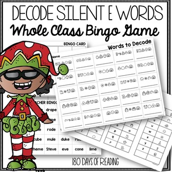 Christmas Silent E word practice
