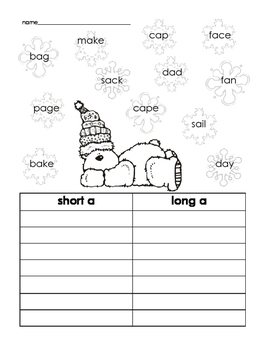 Winter Long and Short vowels