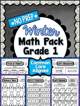 Winter No Prep Math - 1st Grade