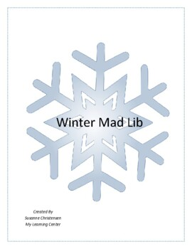 Winter Mad Libs Worksheets & Teaching Resources | TpT