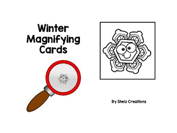 Winter Magnifying Glass Cards