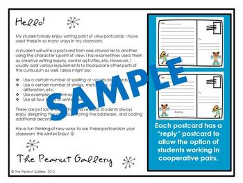 Winter Mail (Writing Point of View Postcards)