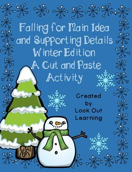 Winter Main Idea Cut and Paste