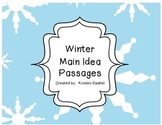 Winter Main Idea Passages (Supports Common Core)