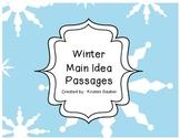 Winter Main Idea Passages (Supports Common Core)