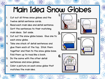 Winter Main Idea and Details Craft