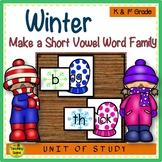 Winter Make A Short Vowel Word Family Center