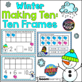 Winter Making Ten with Ten Frames BOOM Cards™ * Distance L