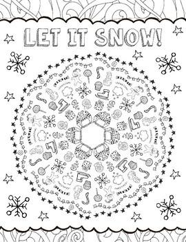 winter coloring pages mandala - photo#18