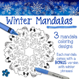 Winter Mandala Coloring Pages