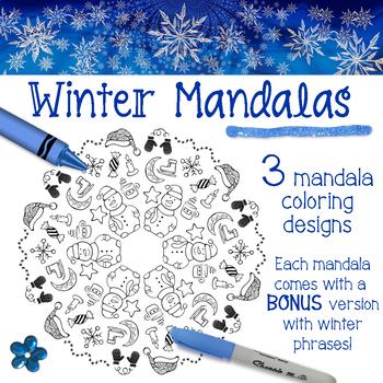 Winter Mandala Coloring Pages