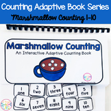 Winter Marshmallow Counting Adaptive Book (#1-10)