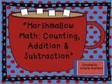 Winter Marshmallow Math & Spanish Contando Con Chocolate Caliente