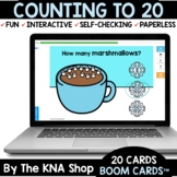 Winter Marshmallows Counting to 20 Boom Cards Distance Learning