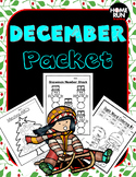 December/Christmas Math and Literacy Packet
