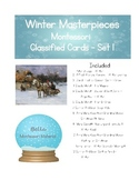 Winter Masterpieces Montessori Classified Cards