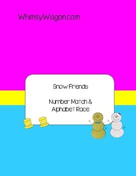 Winter Match Game. Snow Friends Match.