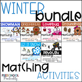 Winter Matching Activities Bundle:  Letters, Numbers, Shap