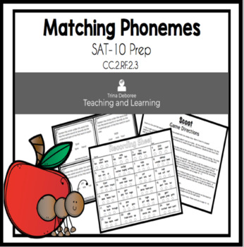 Matching Phonemes (Word Sounds) Task Cards SAT-10 Prep
