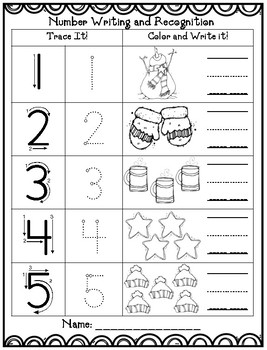 winter math 1 10 writing worksheet by preschoolers and sunshine. Black Bedroom Furniture Sets. Home Design Ideas