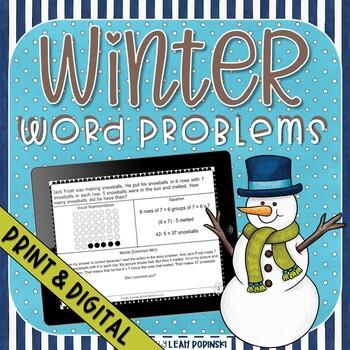 Mult-Step Word Problems Winter Math Third Grade