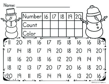 Winter Math Number Recognition