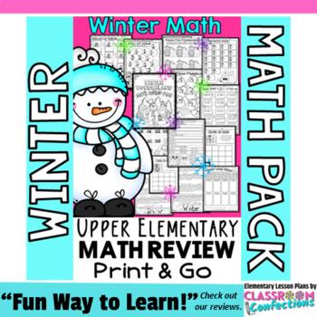 Winter Math Worksheets 4th Grade No Prep Winter Math Tpt