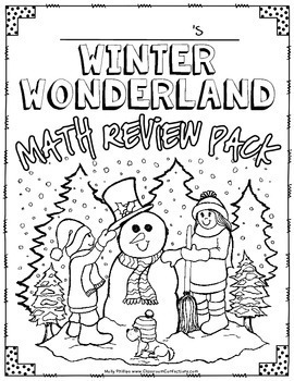winter math worksheets 4th grade no prep winter math tpt. Black Bedroom Furniture Sets. Home Design Ideas