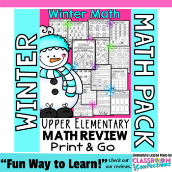Winter Math: Worksheets: 4th Grade No-Prep Winter Math