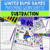Winter Math: Subtraction Bump Games and Worksheets