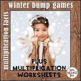 Winter Math: Multiplication Bump Games and Printables