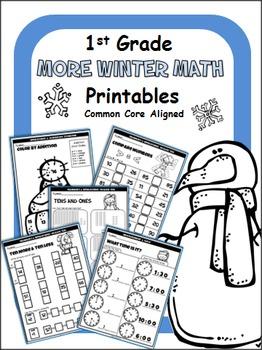 Winter Math Printables - 1st Grade