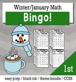 Winter Math 1st Grade BINGO Game Bundle