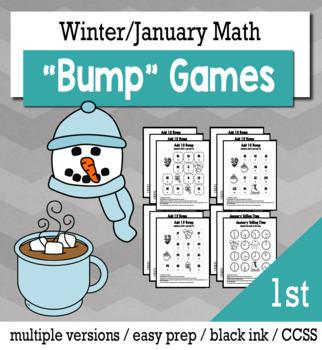 Winter Math 1st Grade+ Bump Games Bundle