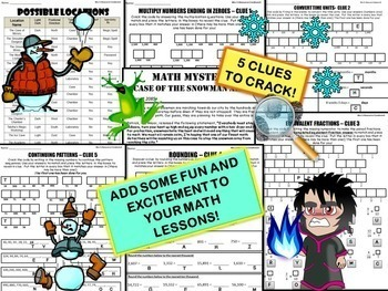 Winter Math Activity: Snowman Army {Grade 4}