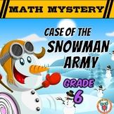 6th Grade Winter Math Activity: Math Mystery - Case of the