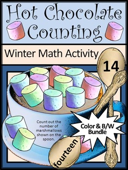Winter Activities: Hot Chocolate-Cocoa Counting Winter Math Activity Bundle