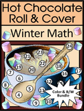 Winter Math Activities: Hot Chocolate / Hot Cocoa Roll & Cover Math Activity