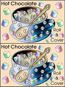 Winter Math Activities: Hot Chocolate-Cocoa Roll & Cover Math Activity Bundle