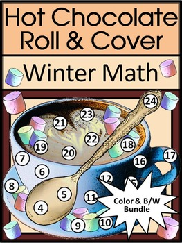Winter Math Activities: Hot Chocolate / Hot Cocoa Roll & C