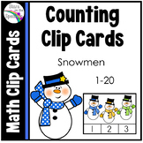 Winter Activities Snowman Counting Clip Cards